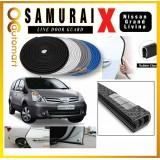 Samurai X Car Door Edge Guards 16Ft (5M) Rubber Car Door Protector Car Door Nissan Grand Livina Trim (4 Door) (Black,White,Gray,Blue,Red)