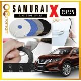 Samurai X Car Door Edge Guards 16Ft (5M) Rubber Car Door Protector Nissan X-Trail Car Door Trim (4 Door) (Black,White,Gray,Blue,Red)