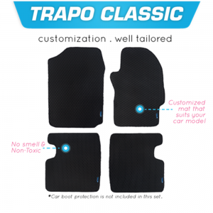 TRAPO Customize Car Floor Mat For Peugeot 3008 Plus 2019 - Present Black Base with Red Lining,Grey Lining,Blue Lining,Black Lining) Choose The Colour In Colour Family
