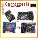 Carrozzeria Sound Proofing Sound Damping for Car Doors Panel or Car Engine Cover (4pcs/6pcs)