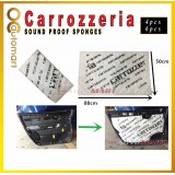 Carrozzeria Sound Proofing Sound Sponge for Car Doors Panel or Car Engine Cover (4pcs/6pcs)