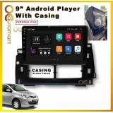Android Player 9 inch IPS 2.5D full HD screen with player casing Perodua Viva ( Black )
