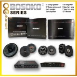BOSOKO Sound System Series 6 Inch 2 way speaker 6 Inch 2 way component 6x9 speaker 2ch amplifier 4ch amplifier 4 and 5 band pre amp 12 Inch Woofer Single