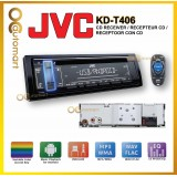 JVC KD-T406 1-DIN CD Receiver CD Receiver with Front USB/AUX Input Variable-Color