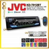 JVC KD-T912BT 1-DIN CD Receiver CD Receiver with Front USB/AUX Input Variable-Color