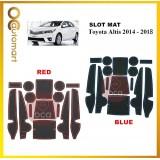 Toyota Altis 2014-2018 Car Interior Slot Mat - Red/Blue