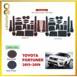 Toyota Fortuner 2015-2018 Car Interior Slot Mat - Red/Blue