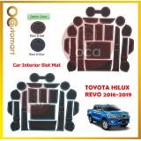 Toyota Hilux Revo 4 Door 2016 2017 2018 2019 Car Interior Slot Mat - Red/Blue