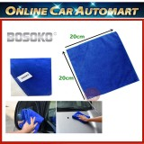 Soft Absorbent Wash Cloth Car Auto Care Microfiber Cleaning Blue Towels (20cm x 20cm)