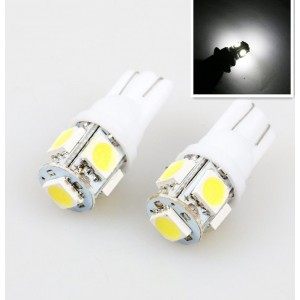 T10 194 168 W5W DC 12V 5SMD 5050 LED Car Wedge Tail Side Light Bulbs (1PCS)