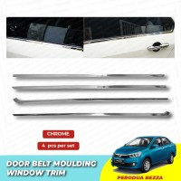 Perodua Bezza Window Trim Chrome Lining / Door Belt Moulding (4pcs)