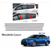 Mitsubishi Lancer GT Window Trim Chrome Lining / Door Belt Moulding (4pcs)