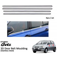 Hyundai Getz Window Trim Chrome Lining / Door Belt Moulding (4pcs)