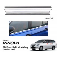 Toyota Innova 2005-2016 Window Trim Chrome Lining / Door Belt Moulding (4pcs)