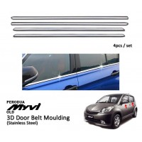 Perodua Myvi 2005 - 2010 Window Trim Chrome Lining / Door Belt Moulding (4pcs)