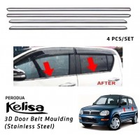Perodua Kelisa Window Trim Chrome Lining / Door Belt Moulding (4pcs)