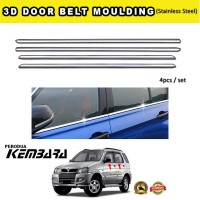 Perodua Kembara Window Trim Chrome Lining / Door Belt Moulding (4pcs)
