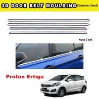 Proton Ertiga Window Trim Chrome Lining / Door Belt Moulding (4pcs)