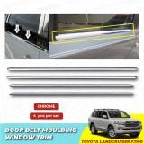Toyota Land Cruiser FJ100 Window Trim Chrome Lining / Door Belt Moulding (4pcs)
