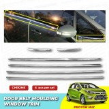 Proton Iriz Window Trim Chrome Lining / Door Belt Moulding (6pcs)