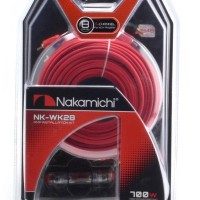 Nakamichi 8GA Wiring Kit NK-WK28 Cable Set For Amplifier 4-Channel