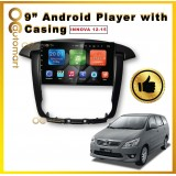 9 Inch IPS SCREEN ANDROID PLAYER WITH CASING Toyota Innova 2012-2015