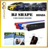 2 in 1 BJ Shape 16FT (5M) Car Door Guard Scratch Strip Rubber With Sound Insulation Tap For Honda Car (4 Door)
