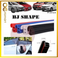 2 in 1 BJ Shape 16FT (5M) Car Door Guard Scratch Strip Rubber With Sound Insulation Tap For Proton Car (4 Door)