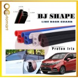 2 in 1 BJ Shape 16FT (5M) Car Door Guard Scratch Strip Rubber With Sound Insulation Tap For Proton Iriz (4 Door)