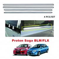 Proton Saga BLM/FLX Window Trim Chrome Lining / Door Belt Moulding (4pcs)