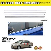 Honda City 2003-2008 Window Trim Chrome Lining / Door Belt Moulding (4pcs)
