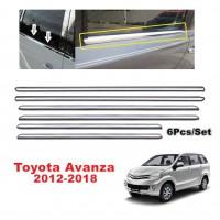 Toyota Avanza 2012-2018 Window Trim Chrome Lining / Door Belt Moulding (6pcs)