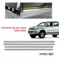 Toyota Hilux Vigo 2004-2008 Window Trim Chrome Lining / Door Belt Moulding (4pcs)