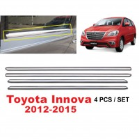 Toyota Innova 2012-2015 Window Trim Chrome Lining / Door Belt Moulding (4pcs)