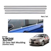 Toyota Vios 2003-2007 Window Trim Chrome Lining / Door Belt Moulding (4pcs)