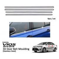Toyota Vios 2014 - 2018 Window Trim Chrome Lining / Door Belt Moulding (4pcs)