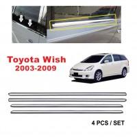 Toyota Wish 2003 - 2009 Window Trim Chrome Lining / Door Belt Moulding (4pcs)