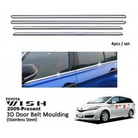 Toyota Wish 2009-2017 Window Trim Chrome Lining / Door Belt Moulding (4pcs)