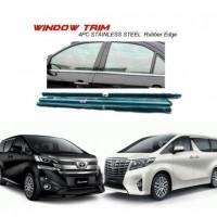 Toyota Vellfire Alphard 2015 Window Trim Chrome Lining / Door Belt Moulding (4pcs)
