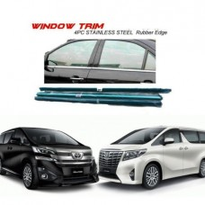 Toyota Vellfire Alphard 2015 Window Trim Chrome Lining / Door Belt Moulding (4pcs)