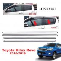 TOYOTA HILUX REVO 2016 - 2019 Window Trim Chrome Lining / Door Belt Moulding (4pcs)