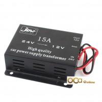 Car 15A DC 24V to 12V Efficient Power Supply Transformer Electric Convertor