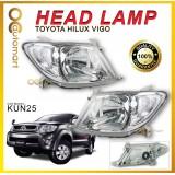 Toyota Hilux Vigo KUN25 2005 - 2012 Head Lamp Headlamp Set ( Left & Right ) Transparent Signal