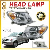 Toyota Hilux Vigo KUN25 2005 - 2012 Head Lamp Headlamp Set ( Left & Right ) Orange Signal