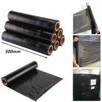 Stretch Film Black Colour Waterproof Wrapper Wrapping Wrap Packing 500mm x 2.2kg x 1 roll ( Ready Stock )