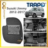TRAPO Customize Car Floor Mat Suzuki Jimmy ( 2012- 2017 ) Black Base with Red Grey Blue Black Lining