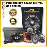 ADAMS DIGITAL 4Channel AMP, 12Inch woofer with box, 2Way speaker, Power Cable Wiring