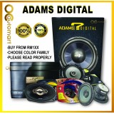 ADAMS DIGITAL 2 Channel AMP, 12 Inch woofer with box, 2 Way Speaker, Power Cable Wiring