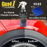 (Free Cloth) Getf 1 Go Black Plastic Coating and Restore Special For Black Colour Parts Plastic Polishing Spray Type