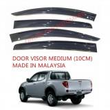 AG Car Window Door Visor Wind Deflector (Made in Malaysia) - Medium 10cm for Mitsubishi Triton Yr 2009 (4 Door)